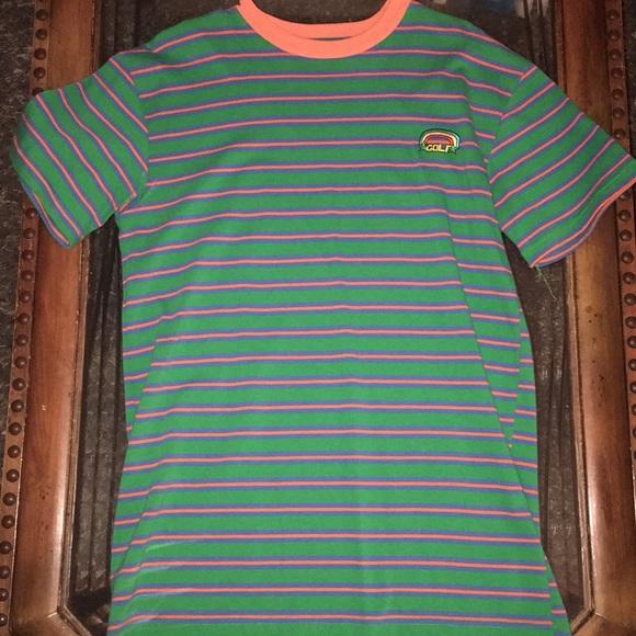 82fe9e68c0b6 GOLF WANG striped shirt green blue orange Rainbow